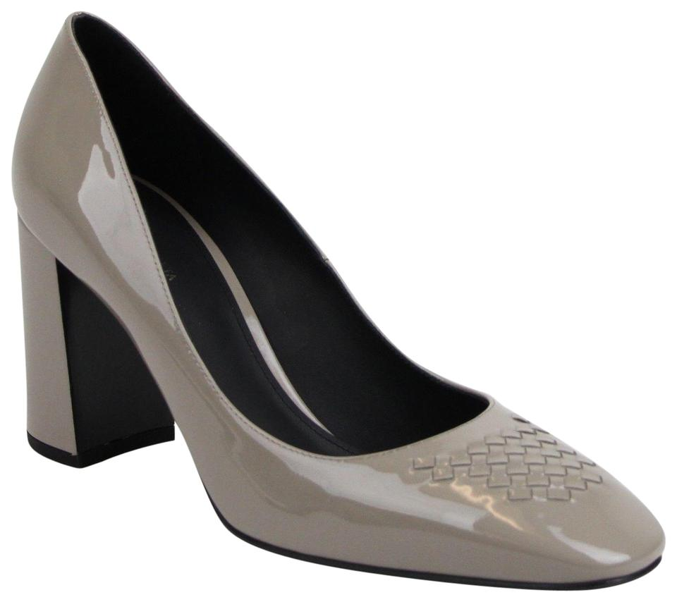 01849fcd27ac3e Bottega Veneta Grey Women s Patent Leather Vernis Soft Heels 40 Us 10  430391 1524 Pumps