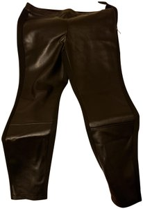 White House | Black Market Leather Hotpant Night Out Date Night Casual Straight Pants Black