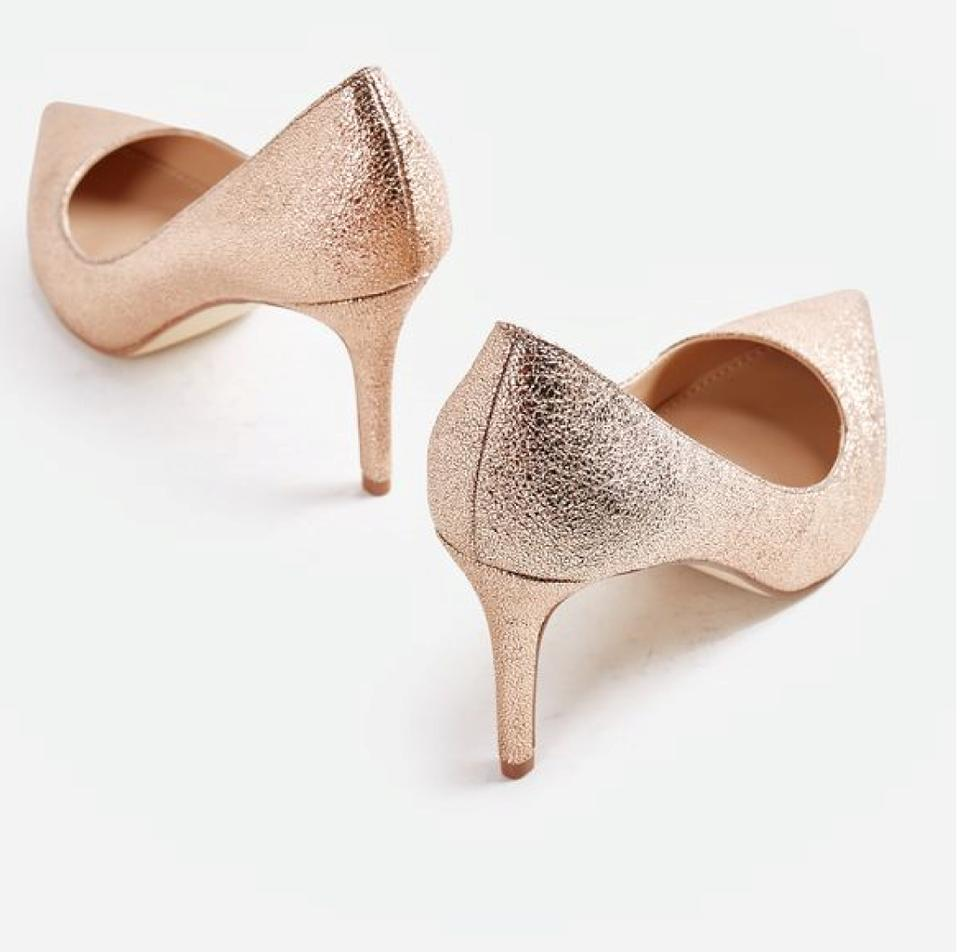 6903293a741 JustFab Rose Gold Teyla Pumps Size US 11 Extra Wide (Ww
