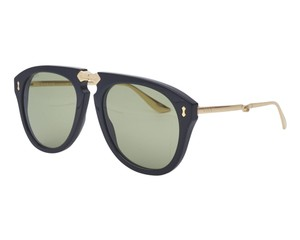 715d7560568 Gucci New Authentic Gucci GG0305S 001 Fold-able Black Sunglasses Green Lens