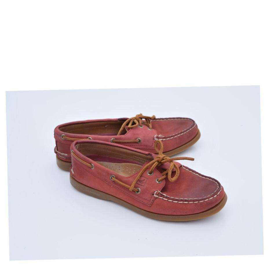 f51afbe726c Sperry Red Leather Boat Flats. Size  US 7.5 Regular (M ...
