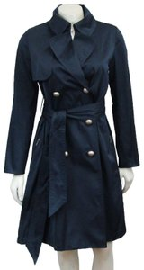 Lanvin Satin Trench Belted Breasted Raincoat