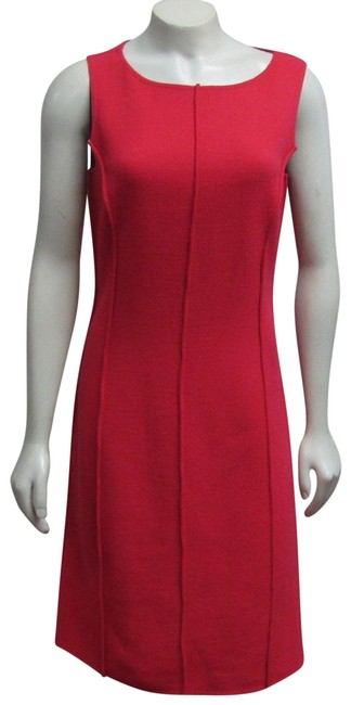 Item - Coral Ana Knits Sample Sheath Boucle Textured French Seams Short Work/Office Dress Size 4 (S)