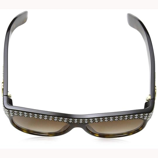 Gucci New Gucci GG0147S 002 Sunglasses Havana Brown With Stones Frame Brown Image 3