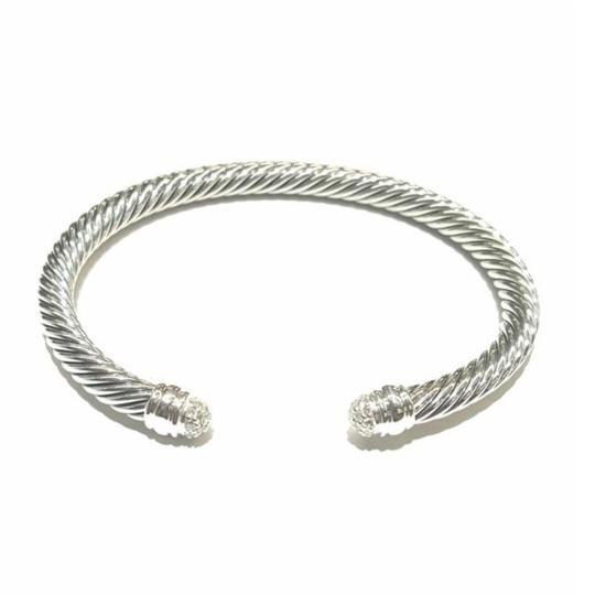David Yurman GORGEOUS!! David Yurman Sterling Silver Dome Pavé Diamond Cuff Bracelet 5mm Sterling Silver 0.26 carat Pavé Diamonds Size: 7.25