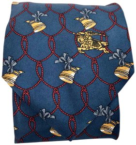 Burberry Vintage Burberry's Hand Made Italy • Horn Ribbon • Pure Silk Tie Necktie