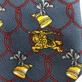 Burberry Vintage Burberry's Hand Made Italy * Horn Ribbon * Pure Silk Tie Necktie Image 1