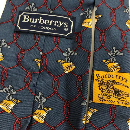 Burberry Vintage Burberry's Hand Made Italy * Horn Ribbon * Pure Silk Tie Necktie Image 5