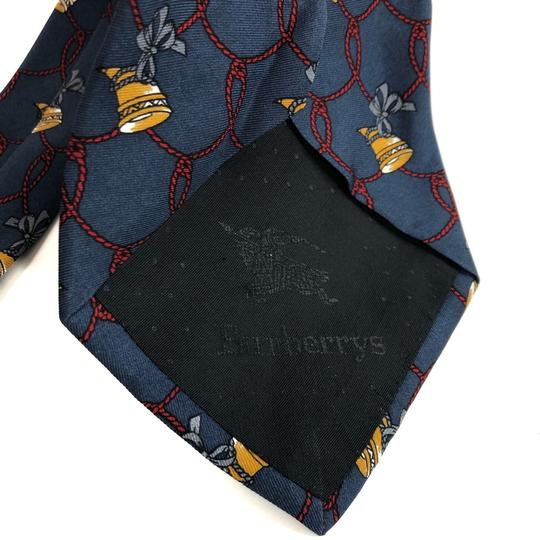 Burberry Vintage Burberry's Hand Made Italy * Horn Ribbon * Pure Silk Tie Necktie Image 6