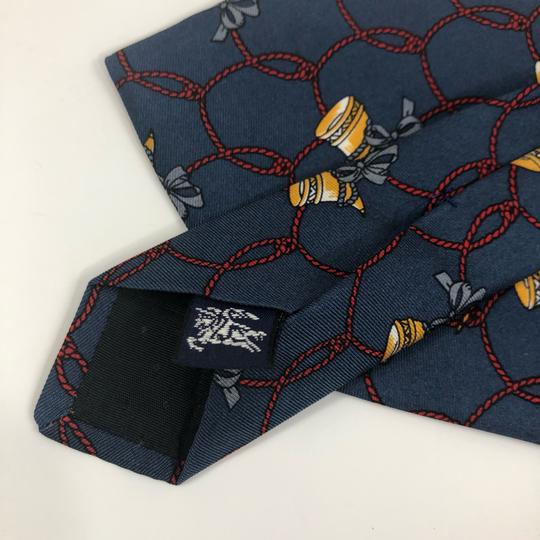 Burberry Vintage Burberry's Hand Made Italy * Horn Ribbon * Pure Silk Tie Necktie Image 7