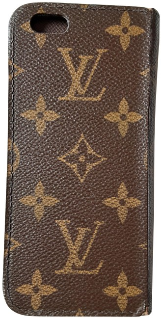 Louis Vuitton Classic Brown Monogram Flowers Unisex Iphone 6 Folio Cell Phone Cover Holder Samsung Android T Mobile Tech Accessory Tradesy
