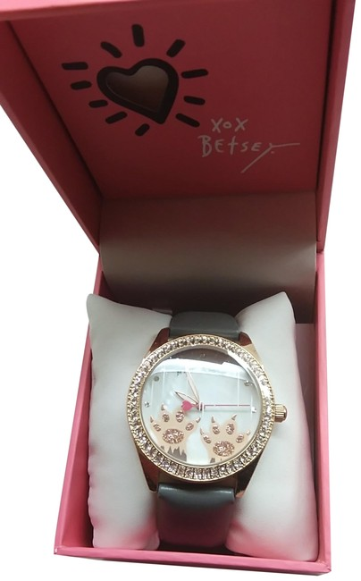 Item - Gray New Pink Paws Watch