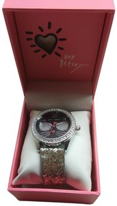 Betsey Johnson Betsey Johnson New Black Cat with Silver Shades Watch