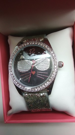 Betsey Johnson Betsey Johnson New Black Cat with Silver Shades Watch Image 1
