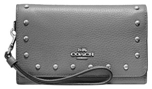 Coach New NWT COACH FLAP PHONE WALLET WITH LACQUER RIVETS (F39180