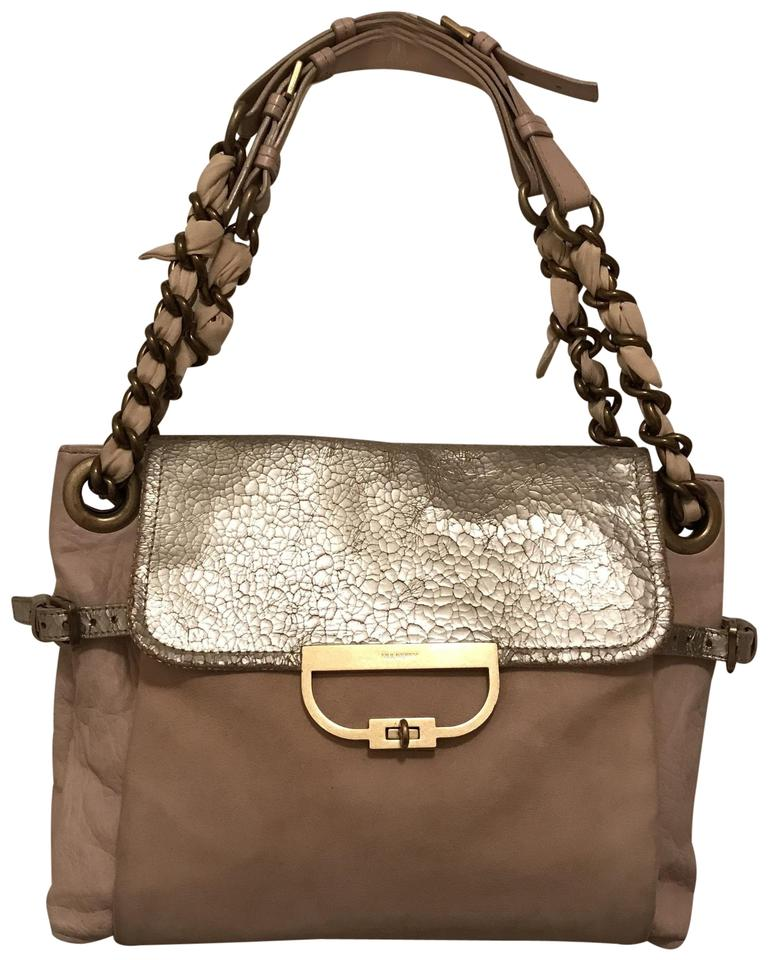 1fc53cf85c Mulberry Distressed Beige Silver Leather Shoulder Bag - Tradesy
