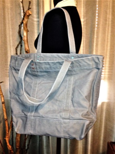 Polo Ralph Lauren Teddy Bear Limited Edition Canvas Shopper Canvas Tote in Gray Image 1