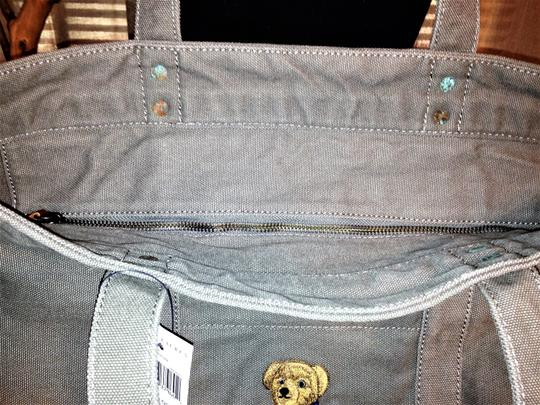 Polo Ralph Lauren Teddy Bear Limited Edition Canvas Shopper Canvas Tote in Gray Image 3