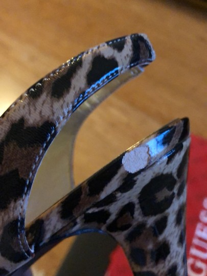Guess By Marciano black brown gold animal print Platforms Image 5
