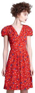 Anthropologie short dress Red Floral on Tradesy