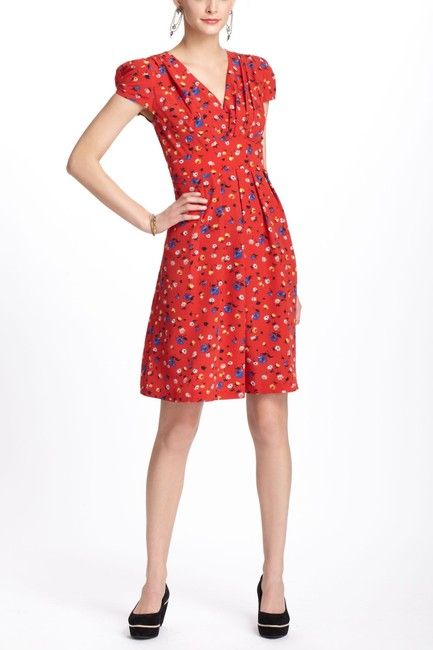 Anthropologie short dress Red Floral on Tradesy Image 1