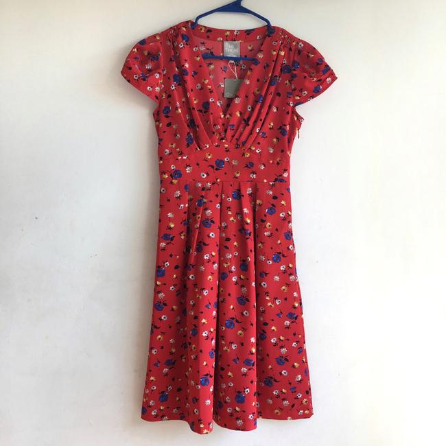 Anthropologie short dress Red Floral on Tradesy Image 2