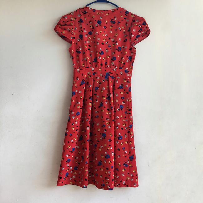 Anthropologie short dress Red Floral on Tradesy Image 3