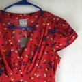Anthropologie short dress Red Floral on Tradesy Image 4