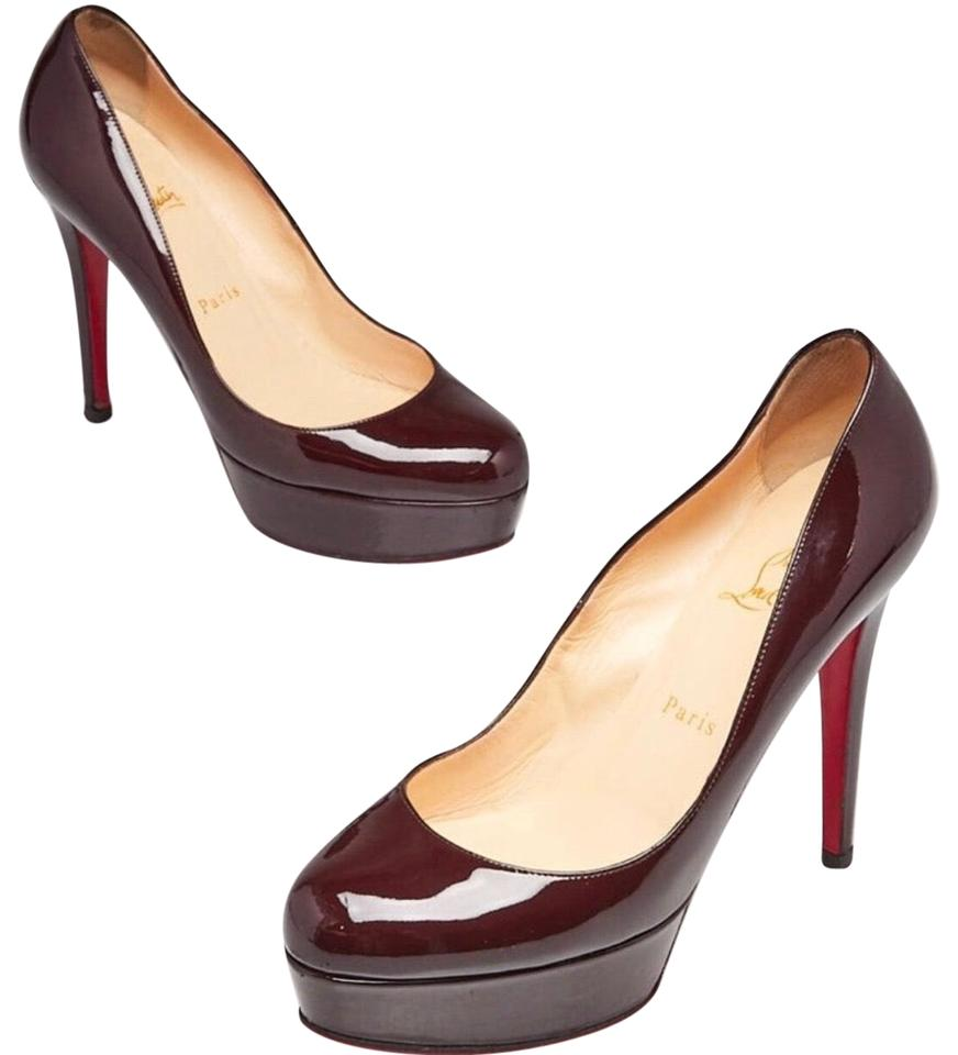 ab8fd249f45 Christian Louboutin Plum Patent Leather Bianca 120 Pumps Size EU 37 ...
