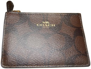 Coach NEW COACH Wallet Coin Purse ID MINI SKINNY Leather Key Cha