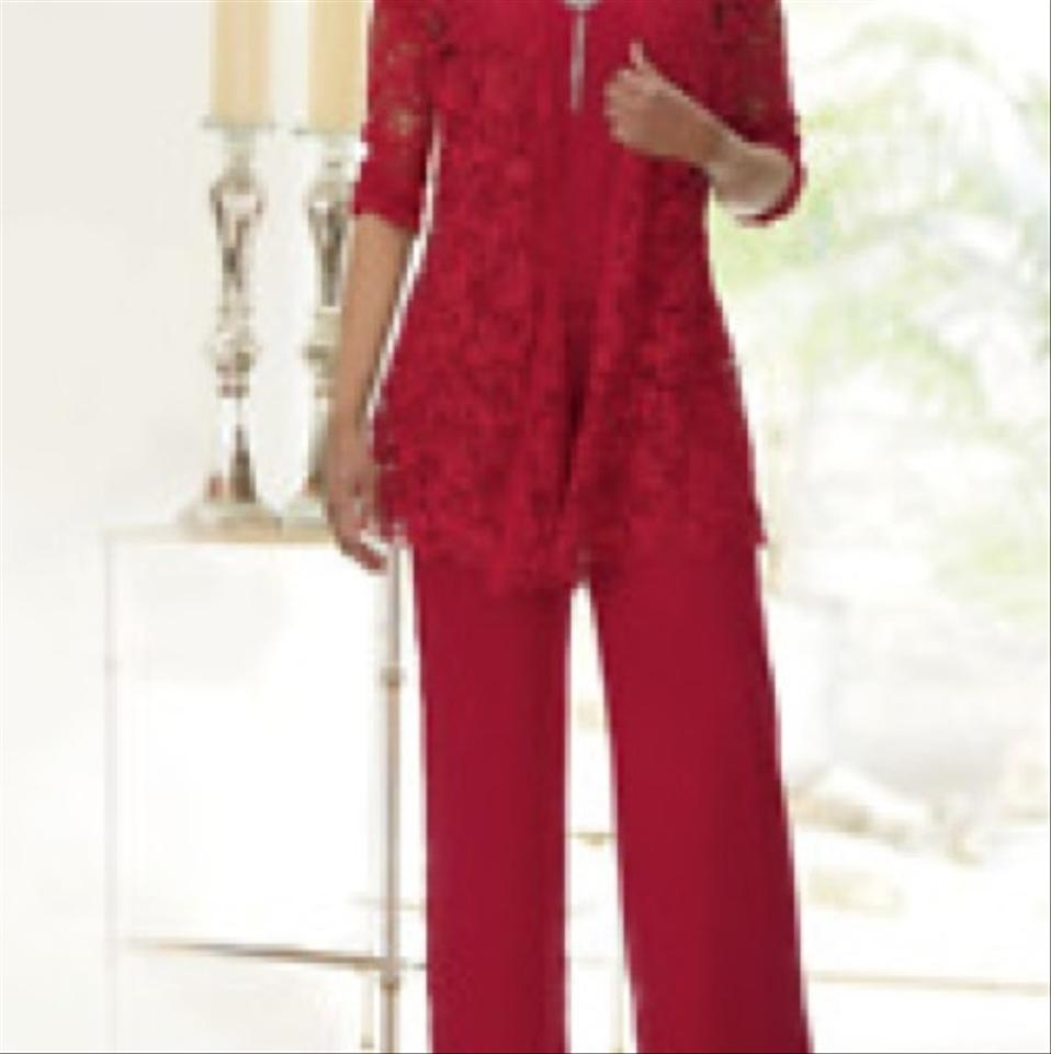 Ashro Red New with Tags - Prinsley 3-piece Pant Suit Size 8 (M)