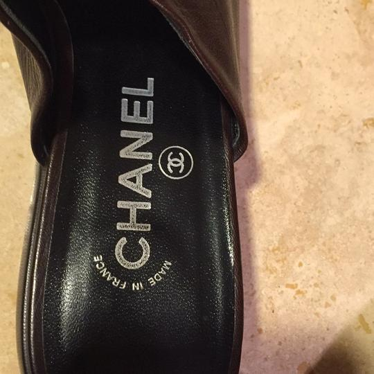 Chanel Brown/Black Mules Image 3