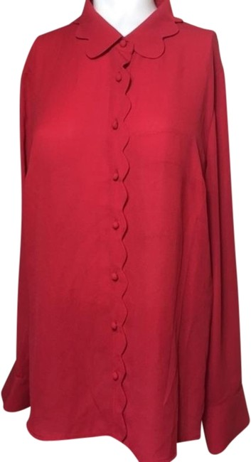 Preload https://img-static.tradesy.com/item/24539221/modcloth-red-long-sleeve-scallop-edges-button-down-top-size-18-xl-plus-0x-0-6-650-650.jpg