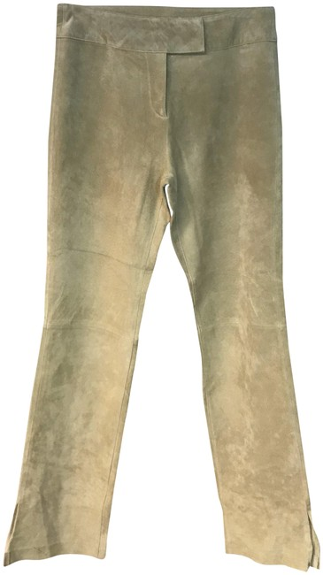 Preload https://img-static.tradesy.com/item/24539364/beige-suede-leather-pants-size-8-m-29-30-0-1-650-650.jpg