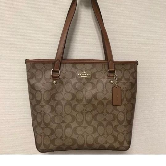 Coach Tote in Saddle Image 3