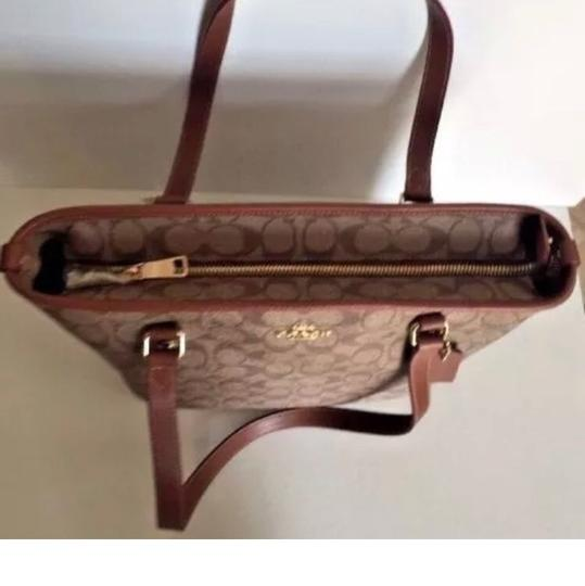 Coach Tote in Saddle Image 4