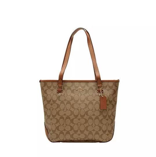 Coach Tote in Saddle Image 6