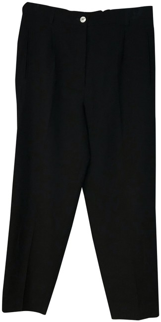 Preload https://img-static.tradesy.com/item/24539387/black-partially-elastic-waist-wool-trousers-40-pants-size-12-l-32-33-0-1-650-650.jpg
