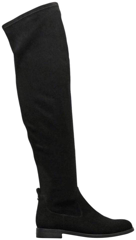 0f9d03fc51a Kenneth Cole Black Wind Free Over The Knee Boots Booties Size US 6 ...
