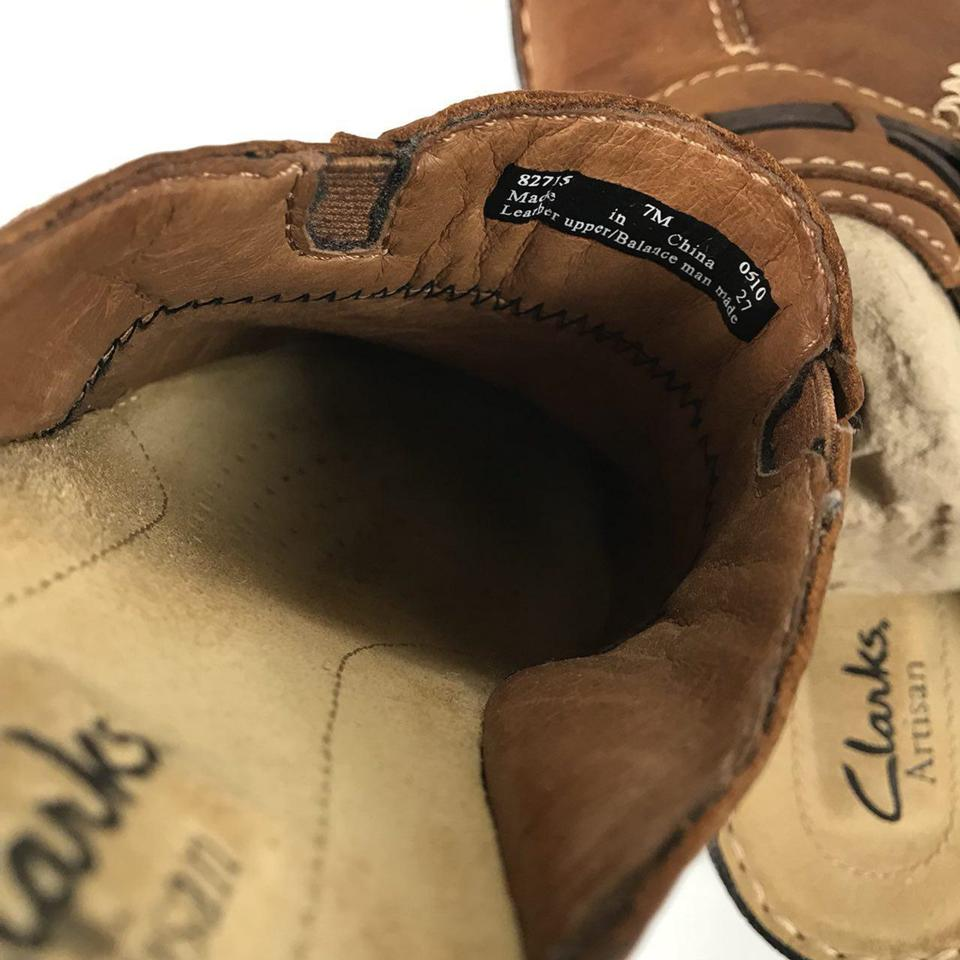 c96920b594ec7f Clarks Brown Artisan Women s Leather New Mules Slides Size US 7 Regular (M