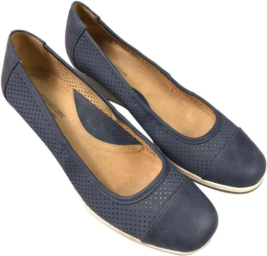 Naturalizer Comfortable Perforated Blue Wedges Image 0
