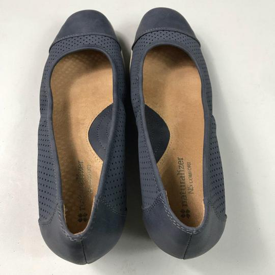 Naturalizer Comfortable Perforated Blue Wedges Image 6