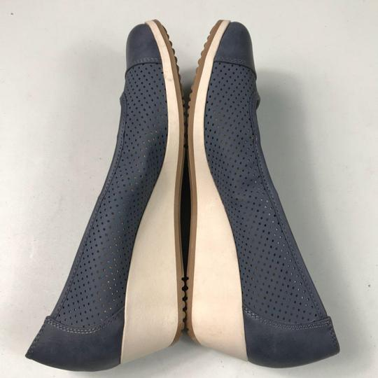 Naturalizer Comfortable Perforated Blue Wedges Image 7