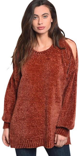 Preload https://img-static.tradesy.com/item/24539580/loveriche-chenille-cold-shoulder-camel-sweater-0-2-650-650.jpg