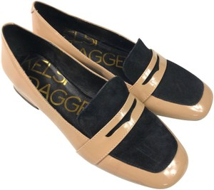 Kelsi Dagger Patent Loafers Nude Cream Flats