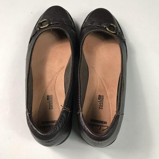 Clarks Leather Slip-on Soft Brown Flats Image 2