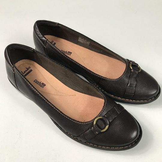 Clarks Leather Slip-on Soft Brown Flats Image 4