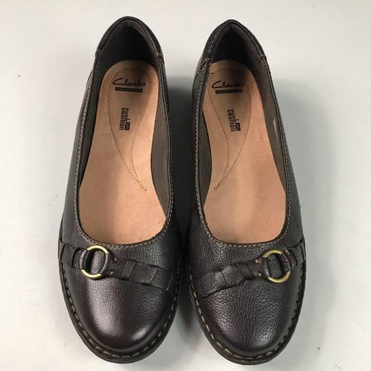 Clarks Leather Slip-on Soft Brown Flats Image 7
