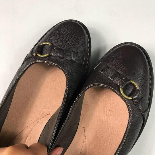 Clarks Leather Slip-on Soft Brown Flats Image 9