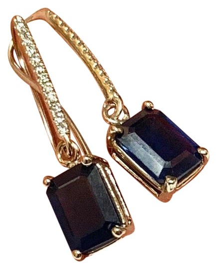 Preload https://img-static.tradesy.com/item/24539662/blue-certified-2290-sapphire-and-diamond-drop-14kt-white-gold-21765-earrings-0-3-540-540.jpg